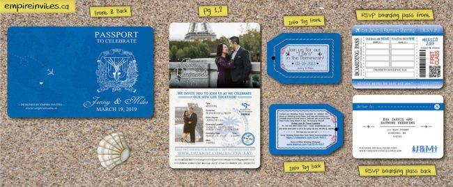 2 page passport wedding invite