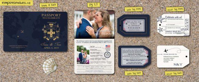 2 page passport wedding