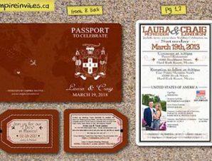 2 Page Passport Wedding Invitations (Design 1)