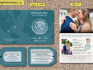 2 Page Passport Wedding Invitations (Design 2)