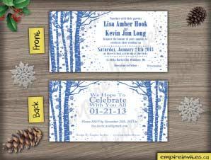 Birch Tree Winter wedding invitation (#4)