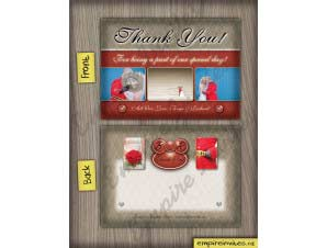 Allison  –  Thank You Card Red 2