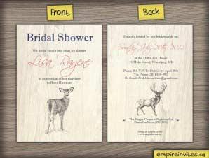 Birch  – Rustic Shower Invite