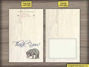 Birch  –  Rustic Thank You (Folded)