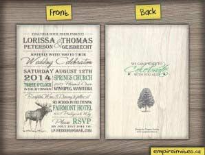 Birch – Rustic wedding invitations 2