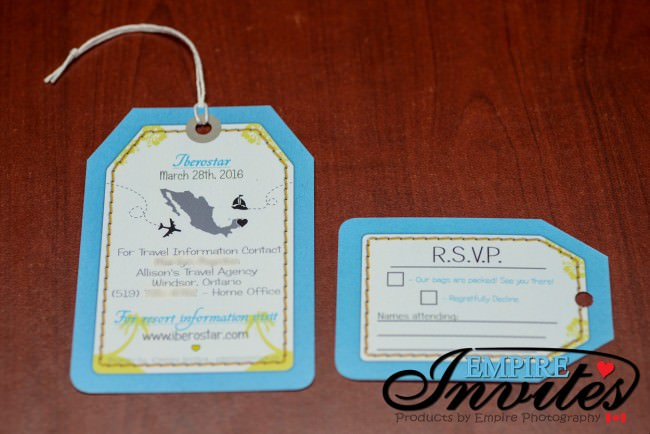 Blue Luggage Tag  Invites to Iberostar Resort Cozumel (5)