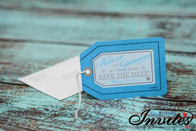Blue Luggage tag save the date Paradisus punta cana (2)