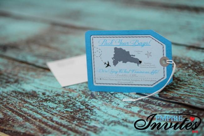 Blue Luggage tag save the date Paradisus punta cana (3)