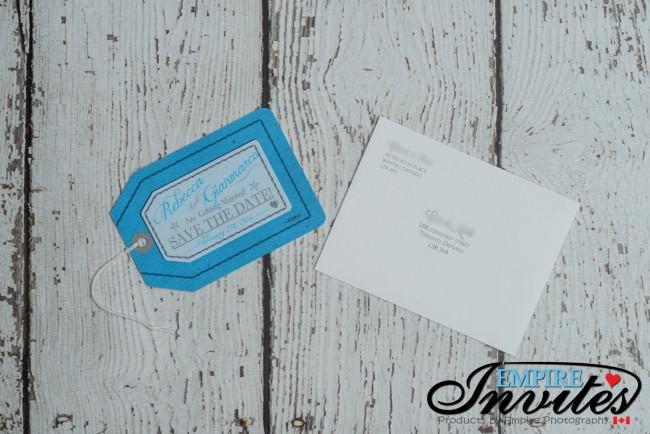 Blue Luggage tag save the date Paradisus punta cana (4)