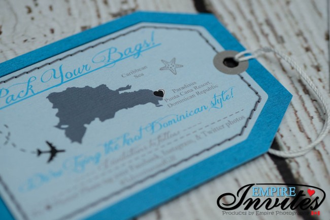 grey luggage tag reinforcment