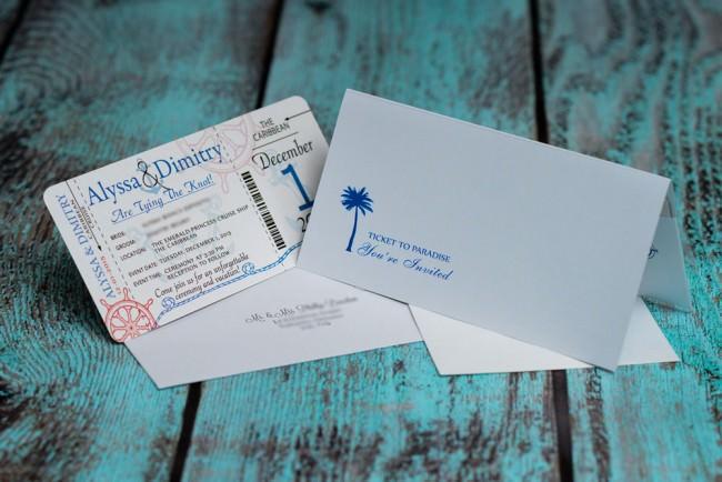 Blue Nautical Boarding pass wedding inviation  (2)