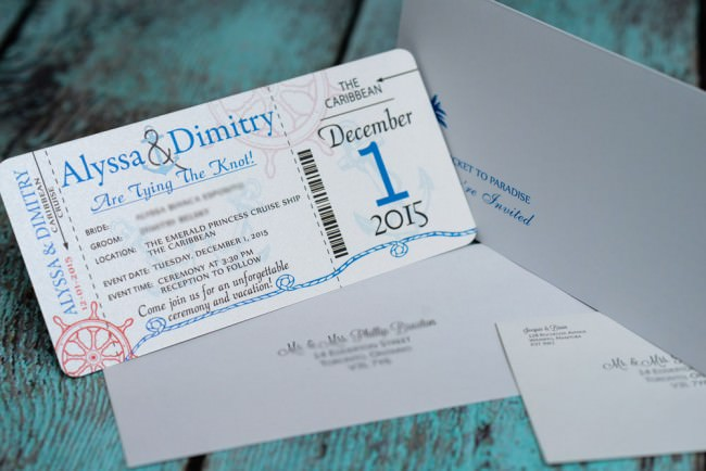 Blue Nautical Boarding pass wedding inviation  (4)
