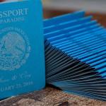 Blue Passport wedding invitations Crown Paradise Club Cancun mexico (7)