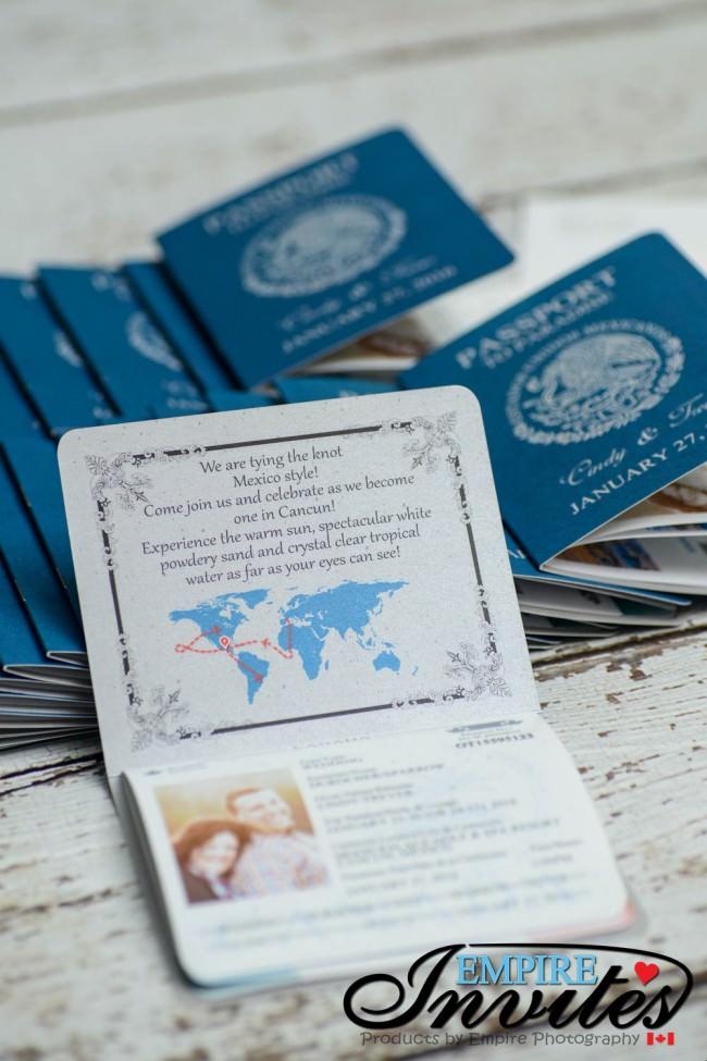 Blue Passport wedding invitations moon palace mexico (4)