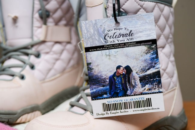back of ski pass invite on snowboard boots