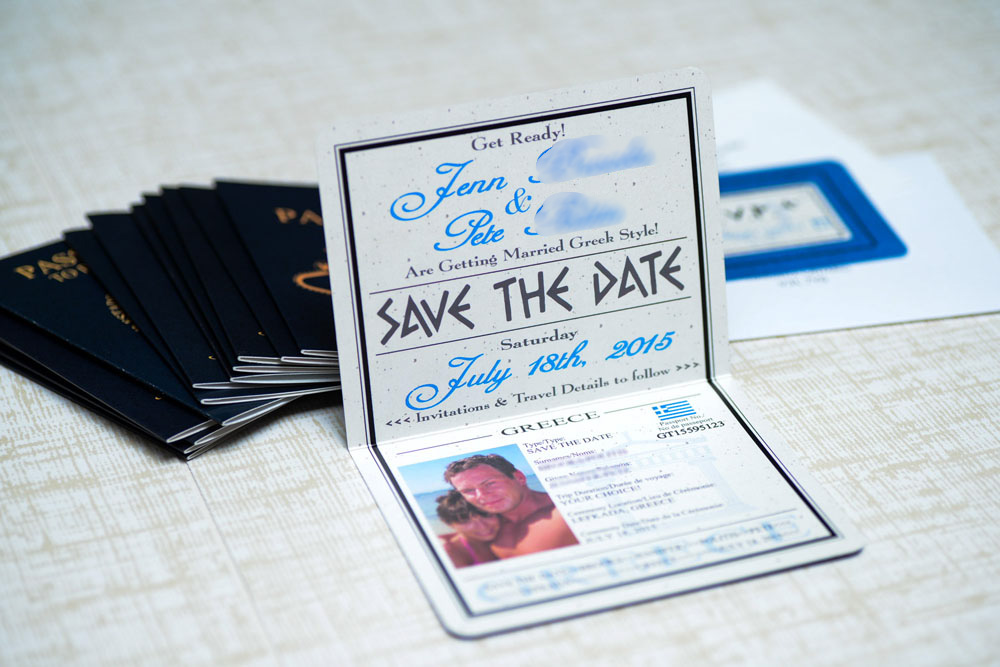 passport save the date - Template