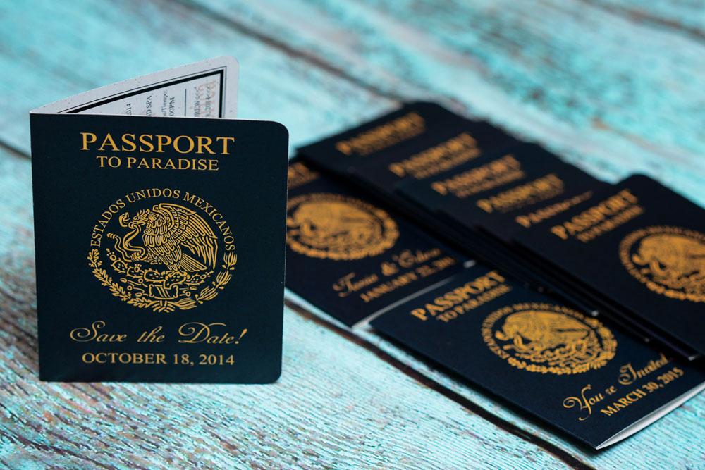 Blue & Orange Passport Save The Dates to Dreams Los Cabos Resort ...