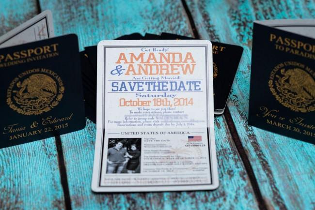 Blue orange Passport save the date Dreams Los Cabos resort (2)