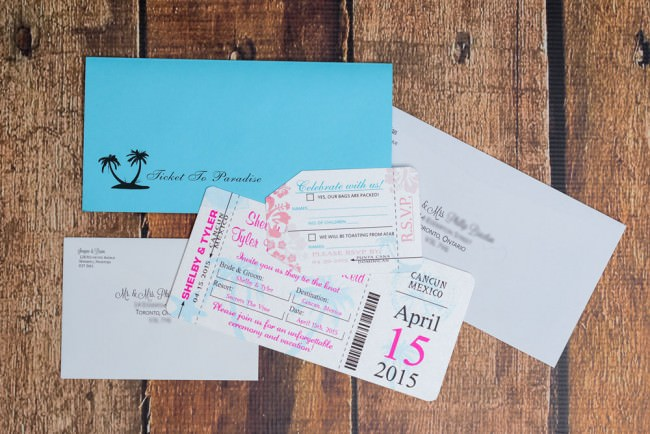 invite package complete with rsvp luggage tag