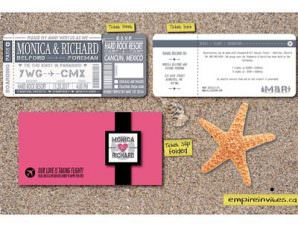 Boarding Pass Destination Wedding Invitation # 6 Modern