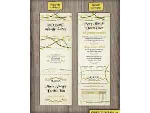 Carman  –  5×5 Tri-Fold Wedding Invitation