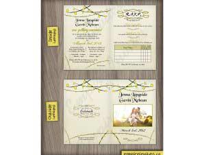 Carman  –  Folded Wedding Invitation