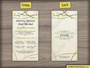 Carman  –  Vertical Wedding Invitation 2