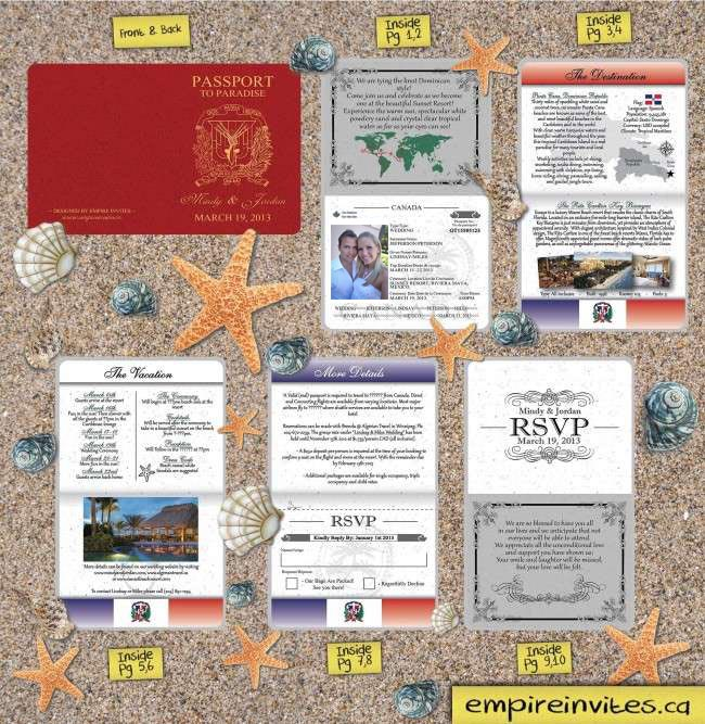 Passport Wedding Invitations Canada