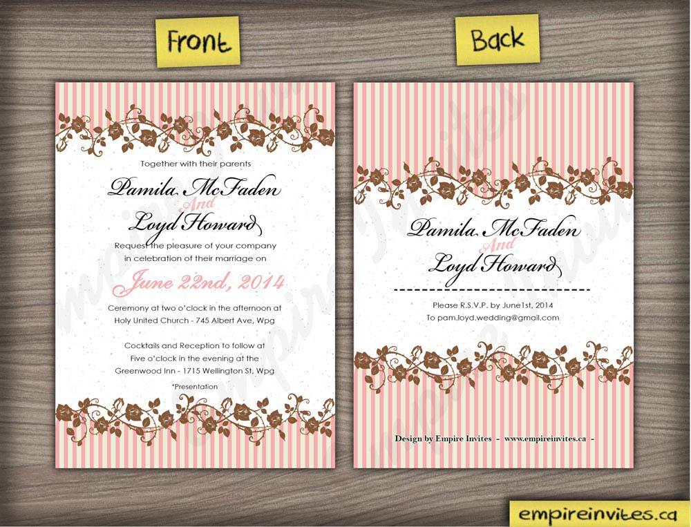 Canadian Wedding Invitations: Custom Floral Wedding Invitations Canada