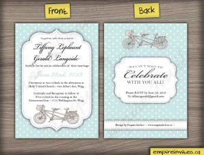 Tandem Bike Wedding Invitation (#26)