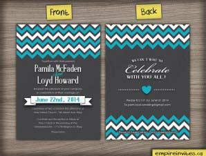 Chevron Wedding Invitation (#27)