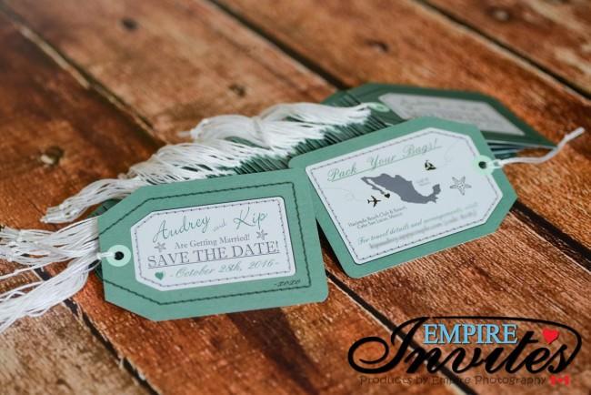 Green Luggage tag save the date hacienda beach club mexico (3)