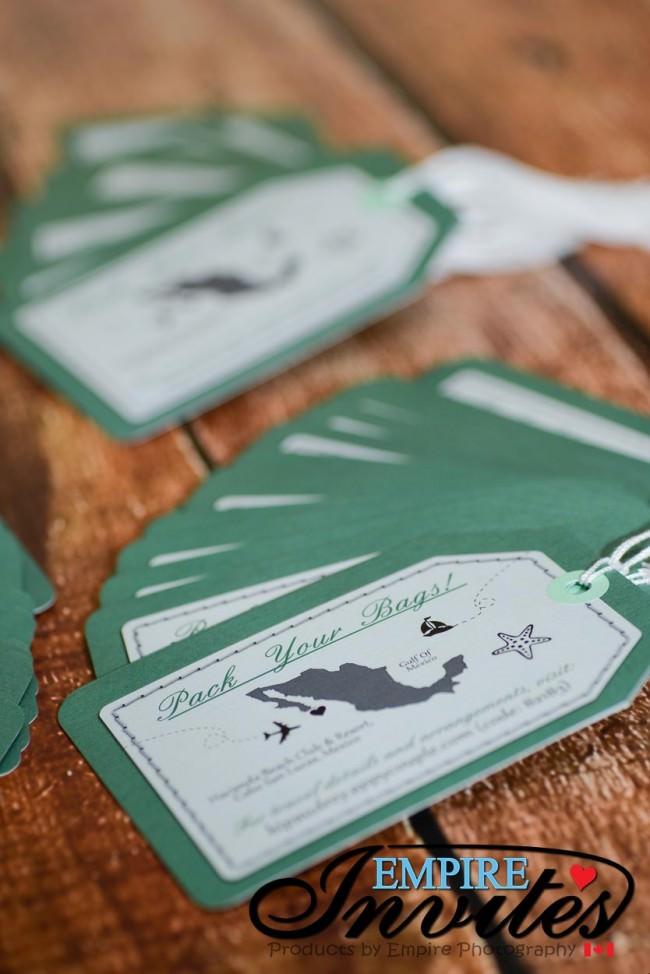 Green Luggage tag save the date hacienda beach club mexico (4)