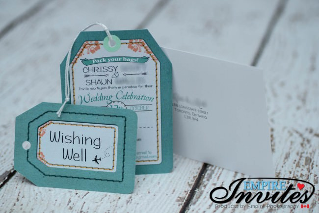 couple included a wishing well card