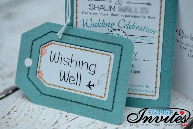 Green Luggage tag wedding invitations byron bay Austrailia (2)