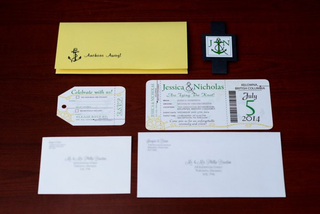 nautical boarding pass package