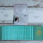 Green Passport wedding invitations Hotel Riu Santa Fe Mexico (2)