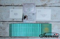 Green Passport wedding invitations to Hotel Riu Santa Fe Mexico