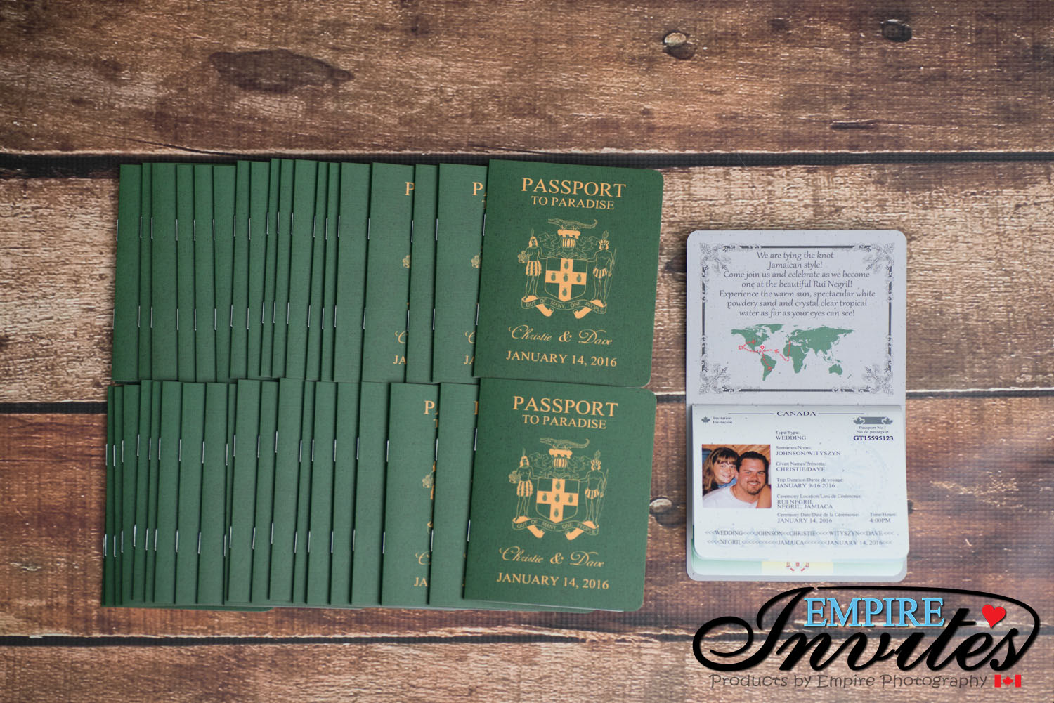 Green passport wedding invites Rui Nergil jamaica (3) | ---- EMPIRE ...