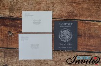 Grey Passport wedding invitations to Grand Bahia Principe, Mexico