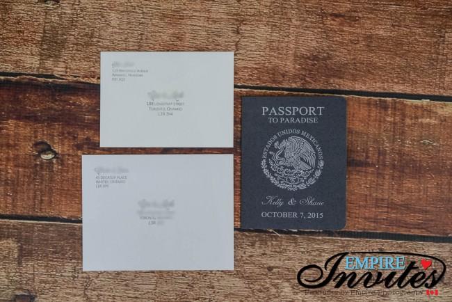 Grey Passport wedding invitations Grand Bahia Principe Tulum mexico (1)