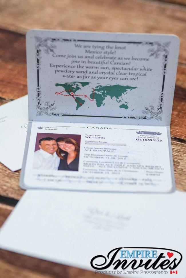 Grey Passport wedding invitations Grand Bahia Principe Tulum mexico (2)