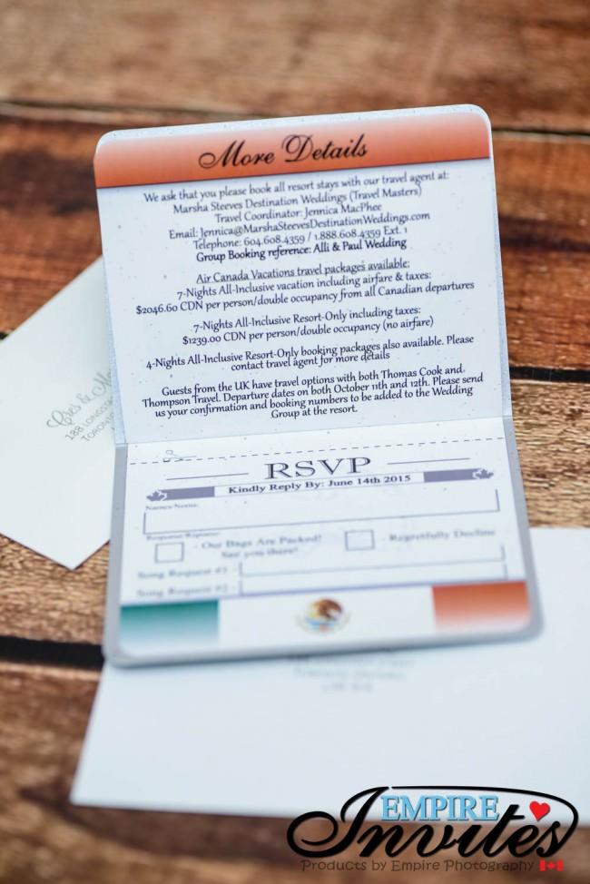 Grey Passport wedding invitations to Grand Bahia Principe, Mexico ...
