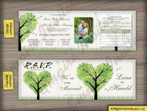 Harrison  –  5×5 Tri-Fold Tree Wedding Invitation