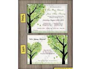 Harrison  –  Horizontal Tree Wedding Invitation