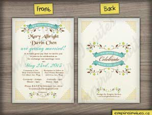 Norman  –  Vertical Wedding Invitation