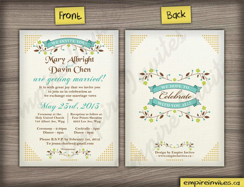 Diy Wedding Invitations Canada: Custom Wedding Invitations Canada