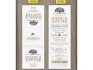 Oakwood  –  Oaktree Wedding Invitations (5×5 Tri-Fold)