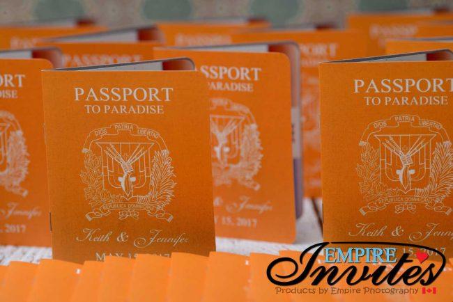 Orange Passport wedding invitations to Majestic Calonial Punta Cana (3)