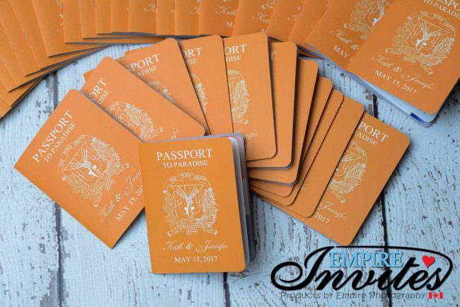 Orange Passport wedding invitations to Majestic Calonial Punta Cana (5)